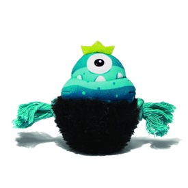 "Alien Flex Plush & Rope Dog Toy with Squeaker - ""King Jambo"""