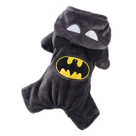 """Batman"" Dog & Cat Costume Halloween Party Soft Plush Onesie"