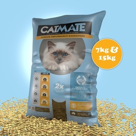 Cat Mate Eco-friendly Wood Pellet Australian Cat Litter 7kg/15kg