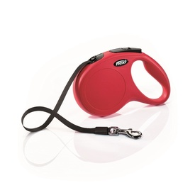 Flexi Classic Tape Retractable Extendable Dog Leash - 3-5 meters in Red