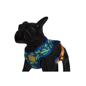 Zee Dog Soft Mesh Harness - Guacamole Green & Purple Cactus