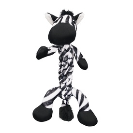 KONG Interactive Dog Toy Safari BraidZ Zebra