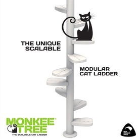 Monkee Tree - The Scalable Cat Climbing Ladder 18 Trunk Starter Pack