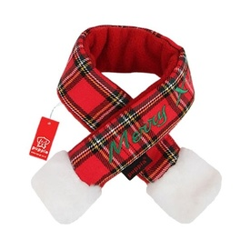 Puppia Checked Santa Christmas Scarf for Cats and Dogs