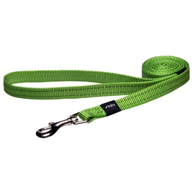 Rogz Utility Dog Leash with Reflective Stitching - Lime