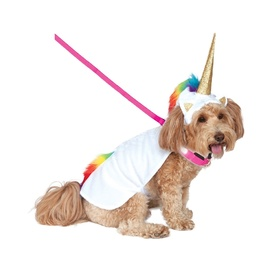 Deluxe Unicorn Pet Costume with Light Up Collar