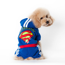 """Superman"" Onesie Costume for Cats or Dogs - Perfect For Parties or Halloween!"
