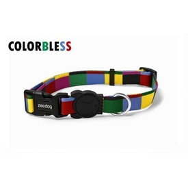Zee Dog Adjustable Dog Collar - Colorbless Multi-coloured Squares