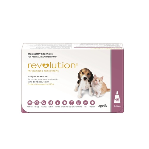 Revolution Flea & Worm Control for Puppies and Kittens - 15 pack