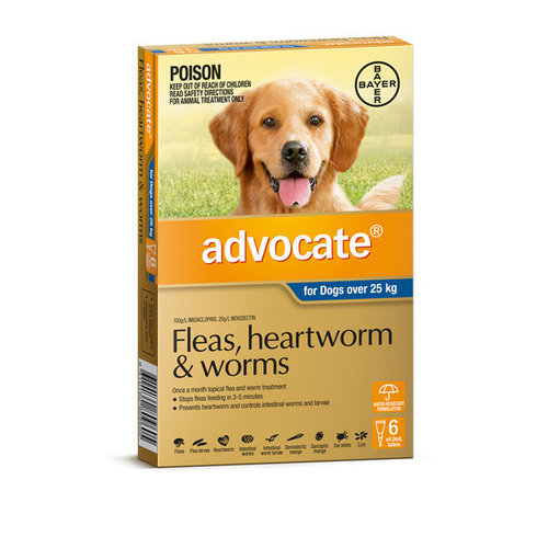 Advocate Flea & Worm Topical Treatmednt for Dogs over 25kg - 6-pack