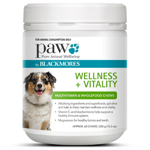 PAW Wellness Vitality Multivitamin & Wellness Kangaroo Chews for Dogs 300g