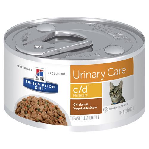 Hills Prescription Diet Feline C/D Multicare - Chicken & Vegetable Stew 82g X 24