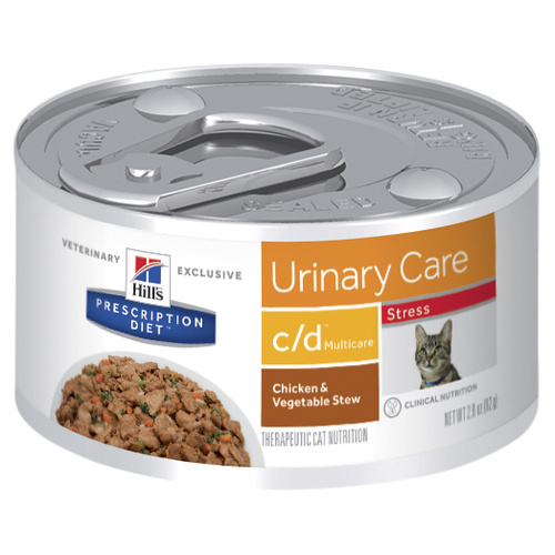 Hills Prescription Diet c/d Multicare Stress Urinary Care Chicken & Vegetable Stew Cat Food 82g x 24 Cans main image