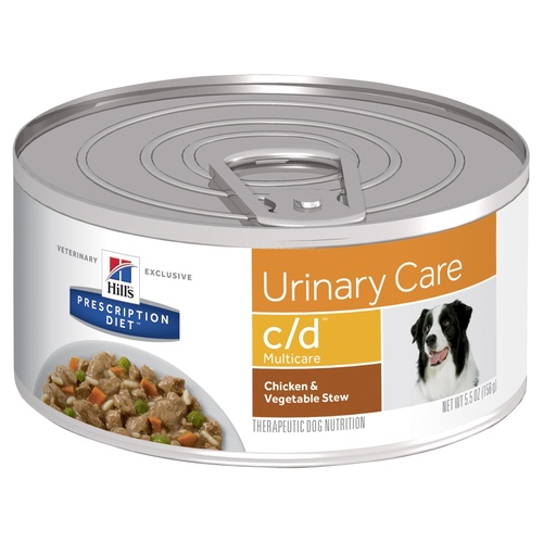 Hills Prescription Diet Canine C/D Chicken & Vegetable Stew Wet 156G X 24
