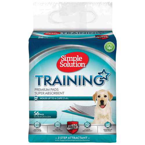 Simple Solution Super Absorbent Odour Neutralising Dog Training Pads - 56 Pads main image