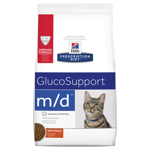 Hills Prescription Diet m/d Glucose/Weight Management Dry Cat Food 1.8kg main image