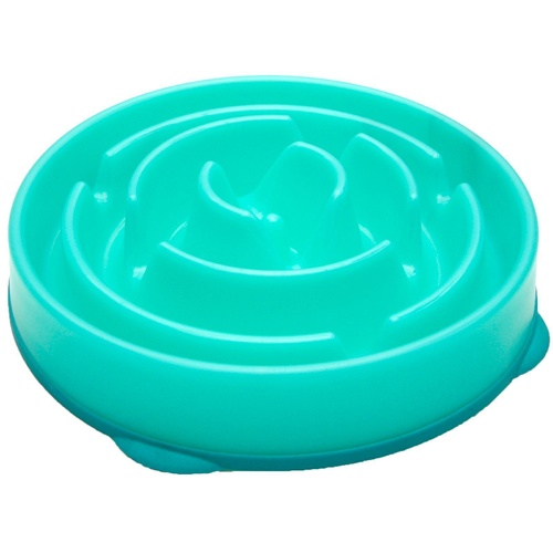 Outward Hound Fun Feeder Interactive Slow Bowl for Dogs - Teal Drop main image