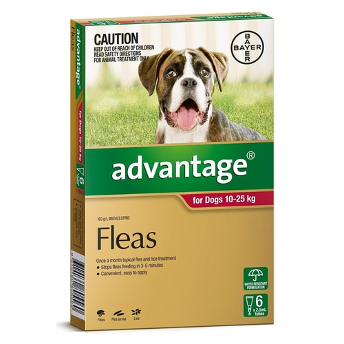 Advantage Spot-On Flea Control Treatment for Dogs 10-25kg