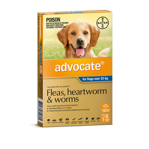 Advocate Spot-On Flea & Worm Control for Dogs over 25kg main image