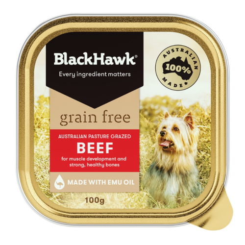 Black Hawk Grain Free Beef Wet Dog Food 100g