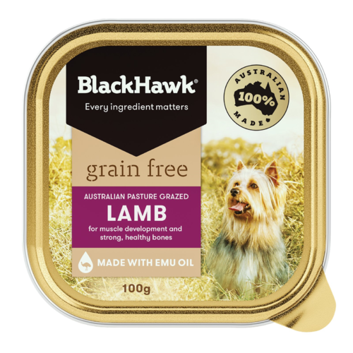 Black Hawk Grain Free Lamb Wet Dog Food 100g