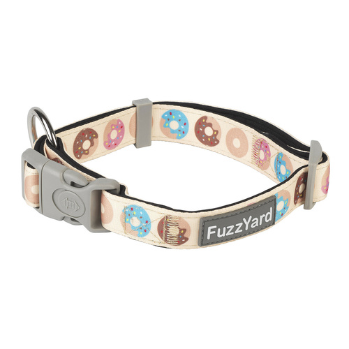 Fuzzyard Neoprene Adjustable Dog Collar with Lockable Buckle - Go Nuts for Donuts