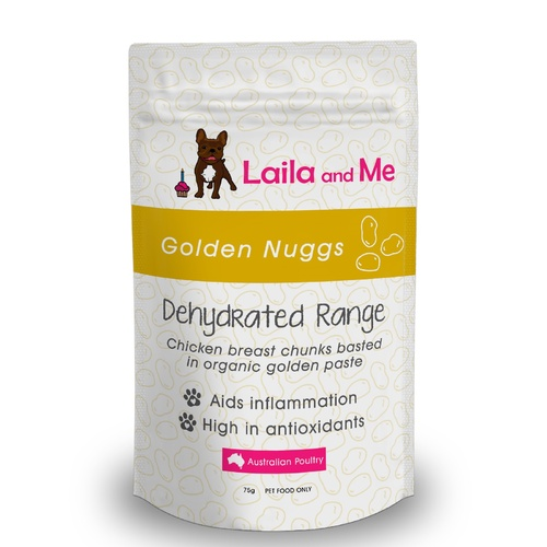 Laila & Me Australian Golden Nuggs Dried Chicken with Golden Paste Dog Treats main image