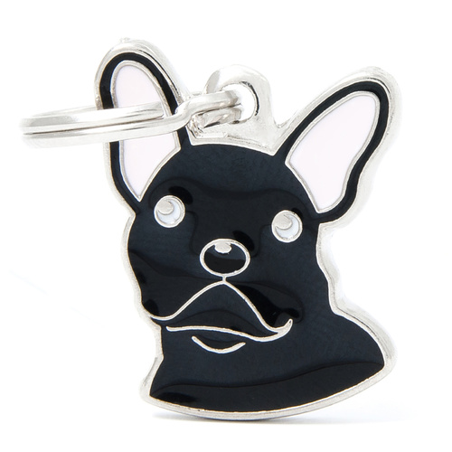 My Family Pet ID Tag Black French Bulldog - Includes FREE Engraving