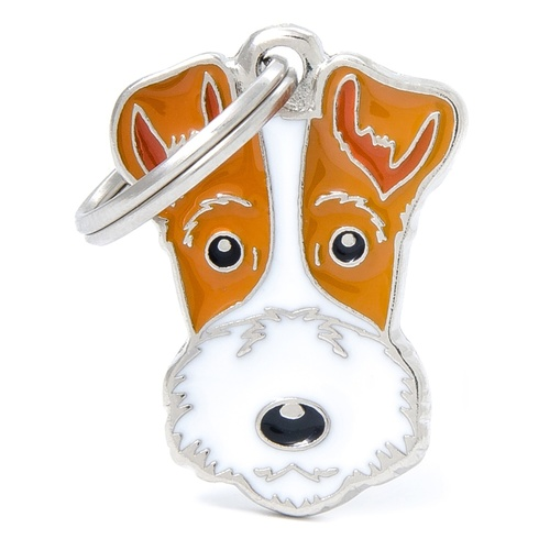 My Family Pet ID Tag Fox Terrier ~ Includes FREE Engraving
