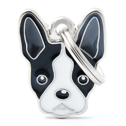 My Family Pet ID Tag Boston Terrier ~ Includes FREE Engraving