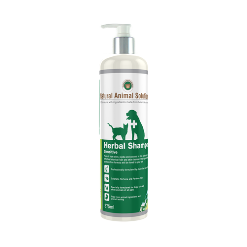 Natural Animal Solutions Herbal Shampoo for Cats & Dogs with Sensitive Skin 375ml main image