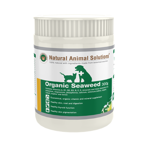 Natural Animal Solutions Organic Seaweed Powder Supplement for Cats & Dogs 300g