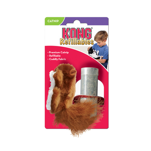 KONG Squirrel Cat Toy with Refillable Catnip Tube main image
