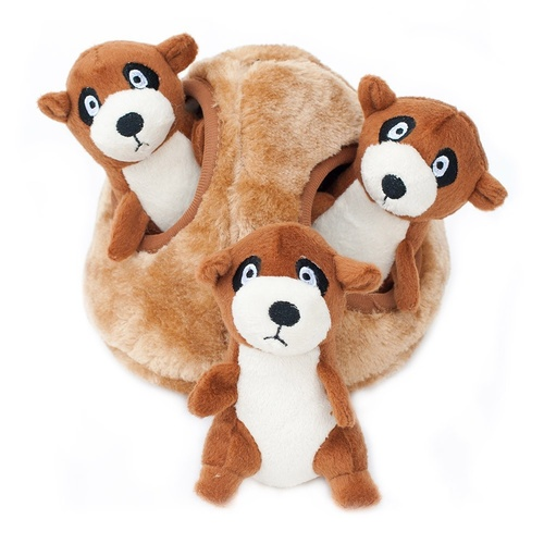 Zippy Paws Interactive Burrow Dog Toy - Meerkat Den