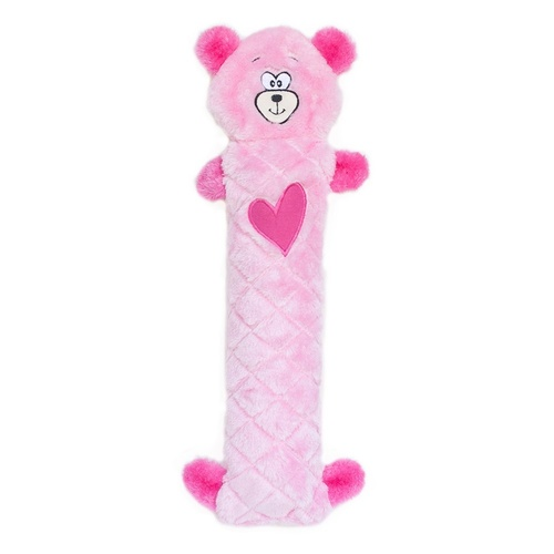 Zippy Paws Jigglerz Shakeable Dog Toy - Pink Bear main image