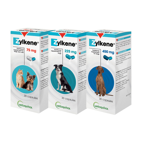 Zylkene Nutritional, Anxiety & Behaviour Support for Dogs and Cats - 30 Capsules main image